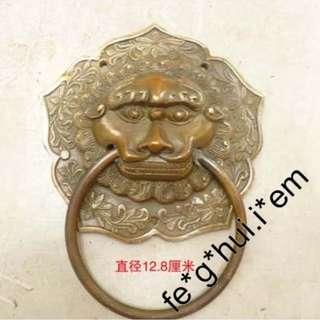 【虎獅頭門扣, 2件】門環*門鈴門鎖裝飾 銅雕家居擺設風水*人物動植物各樣...請詢 ($298/對)