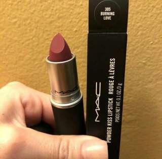 MAC powder kiss lipstick 305 burning love