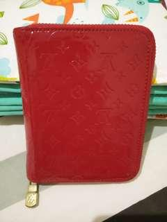 Red LV Wallet