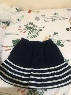Navy Mini Skirt