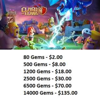 Clash of Clans (COC) Gems Direct Topup