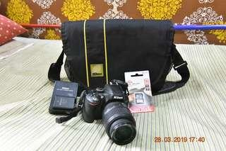 Nikon D5100 with 18-55 mm Sc 1.3k only