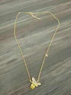 Korea bee necklace with citrine stone
