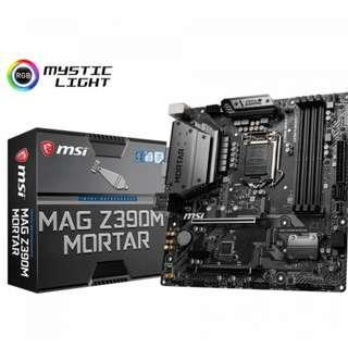 🚚 MSI Intel LGA 1151 Series Z390M Mortar