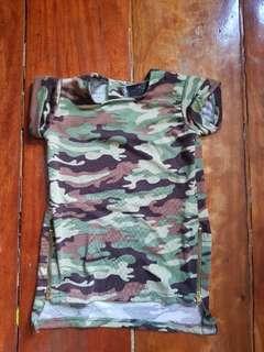 Camouflage long back shirt