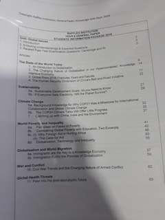 RI H1 GP GLOBAL ISSUES INFO PACKAGE