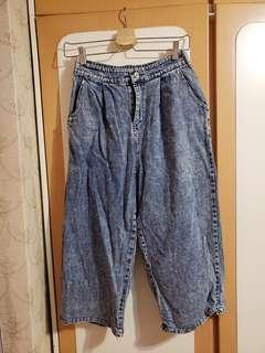 Vintage七分闊腳褲