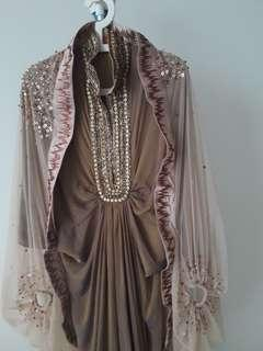 Defrico Audy long gown with jacket