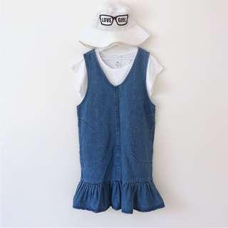 Girls denim dress size 7