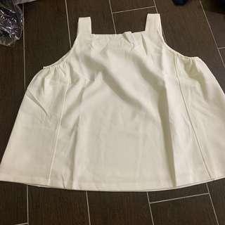 [2 for $22] anticlockwise sleeveless top white