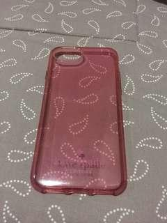 Kate Spade Original Clear Pink Case for iphone 6/7/8