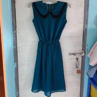 Short green dress hijau