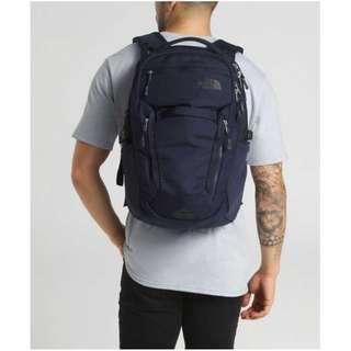 The North Face Surge Backpack, 2018 Cosmic Blue Asphalt Grey