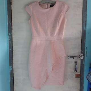 the executive short dress babypink pink muda baby pink