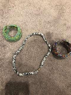 Bracelets/Bangles and Necklace