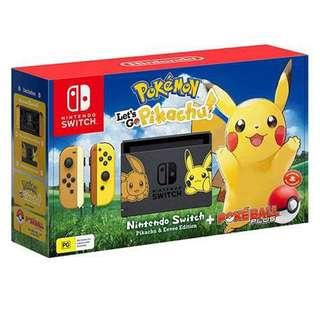🚚 Nintendo Switch Let's Go Pikachu edition