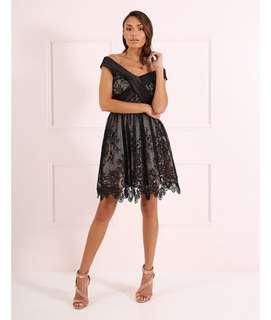 Forever unique black cocktail dress