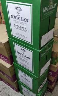 Macallan no 4 大特價 每支 一箱箱走(最後一箱)