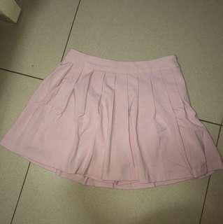 Forever 21 Mini Skirt Pink (model skort, jd dalemnya celana luarnya rok)