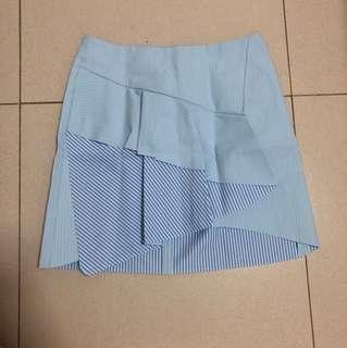 ZARA mini skirt warna biru