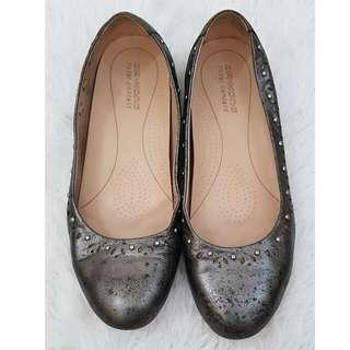 Dr. Kong silver flat shoes