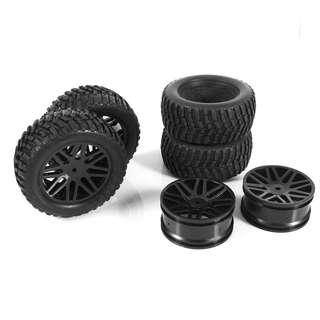 🚚 95mm diameter wheel and tires. For 1/9 or 1/10 Rally Cars like Kyosho DRX