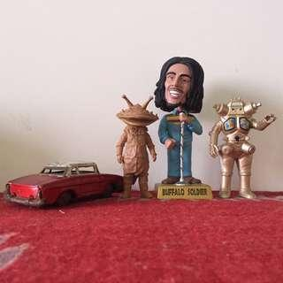 Bob Marley Figure & Ultraman Monster & Vintage Taxi Car not neca