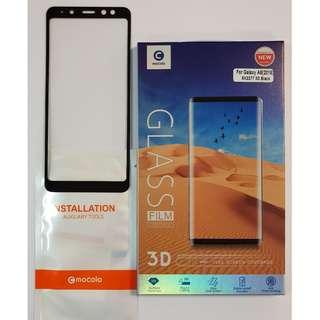 🚚 Samsung Galaxy A8 2018 0.33mm 3D Curved HQ Tempered Glass