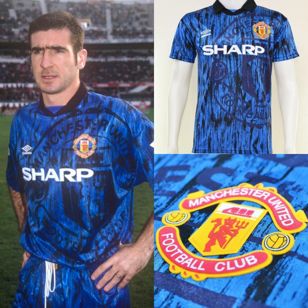 half off cf437 40c01 1992 - 1993 Manchester United Away Kit, Sports, Sports ...