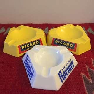 Vintage 70s-80s RICARD & Roemer Ashtray MADE IN FRANCE & INTLY not red wing levis lee converse