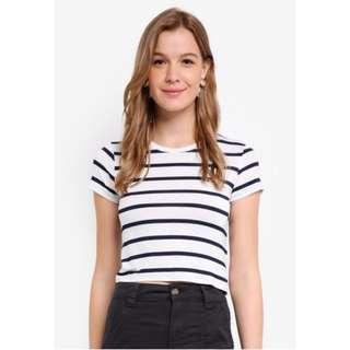 Cotton on Baby tee White stripes