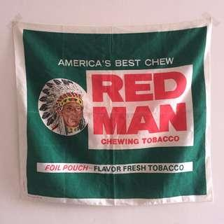 Rare Vintage RED MAN Chewing Tobacco Flag not red wing levis lee converse jack