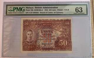 Malaya 50Cents