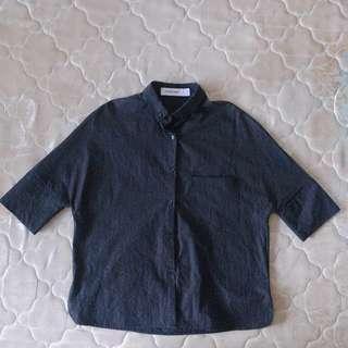 Korean Ulzzang Black Button Up shirt #DressForSuccess30