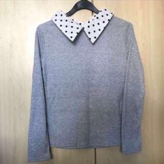 Korean Ulzzang Grey Long Sleeve Top #DressForSuccess30
