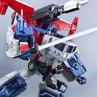 Japanese Transformers Takara Tomy Legends God Ginrai (LG35 Super Ginrai / Optimus Prime + LG42 God Bomber) - MISB C9.9