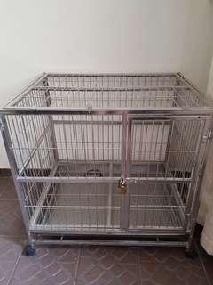 Preloved stainless steel dog cage