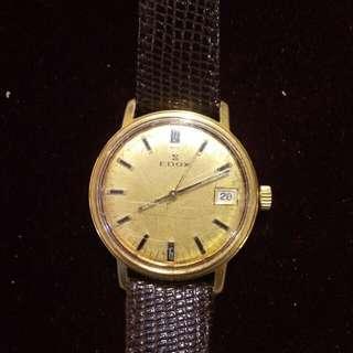 EDOX 瑞士伊度士上鏈包金錶