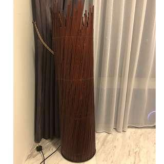 Lovely Wooden Floor Lamp