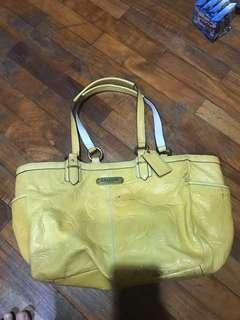 Coach Yellow Bag