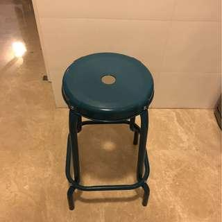 High Kitchen Stools in Teal