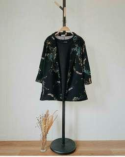 Blezer Outwear Black Flower