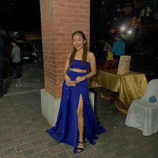 For rent royal blue gown