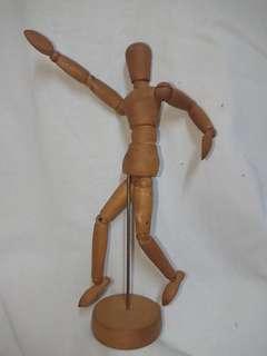 學習素描及人體關節, 木頭figure