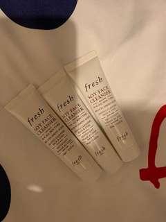 Fresh soy face cleanser 20ml (for 3pcs)