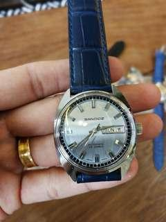 SANDOZ Authentic 1733z-84-8 Swiss Automatic 25Jewels 34mm Acrylic