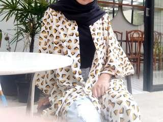 Outer import outer cewek corak import from singapure