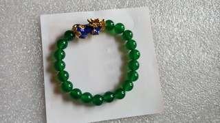 綠瑪瑙貔貅手串