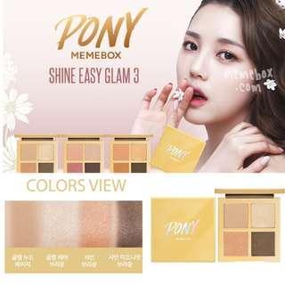 Pony x Memebox Shine Easy Glam 3 Eye Palette 四色春色光澤眼影