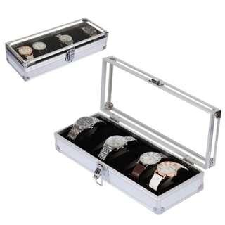 Watch box 6 slots (aluminium)